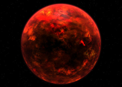 Der Planet Mustafar made with Blender