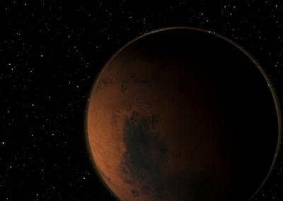 Der Planet Mars made with Blender