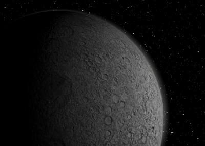 Der Mond made with Blender
