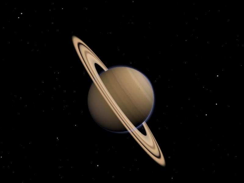 Der Planet Saturn made with Blender