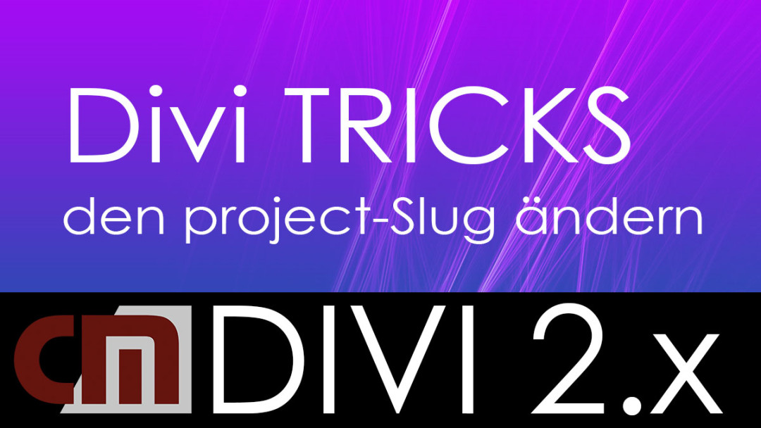 Den Project Slug in Divi anpassen