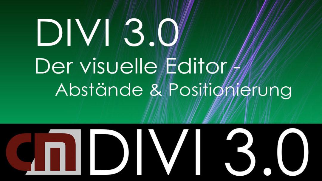 Der visuelle Editor – Abstände und Positionierungen