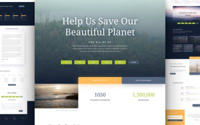 Kostenloses Non-Profit-Umwelt Layout Pack