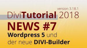 DiviTutorial WordPress 5 und der neue Divi-Builder