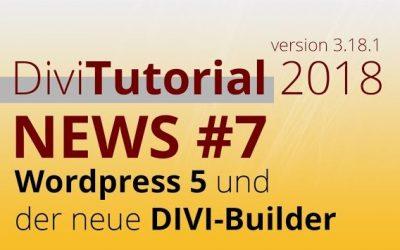 Divi News 2018 #7: WordPress 5 ist da!