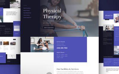 Kostenloses Layout Pack für Physiotherapie