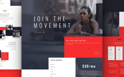 Kostenloses Fitness Studio Layout Pack