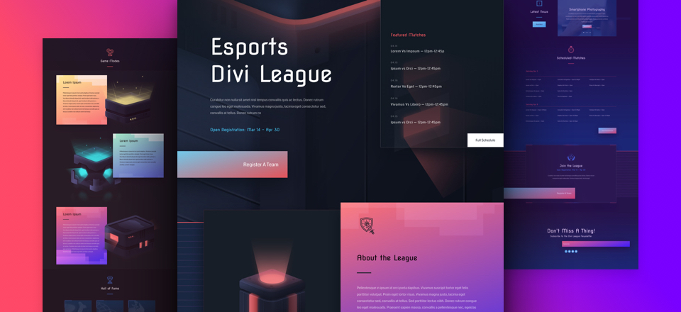 Kostenloses eSports Layout Pack