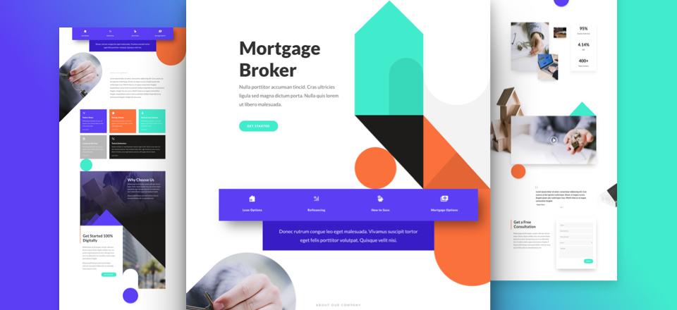Kostenloses Hypothekenmakler Layout Pack