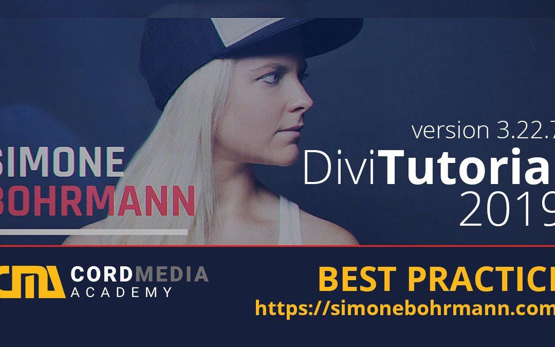 Neu-Erstellung einer Webseite mit Divi – Teil 2