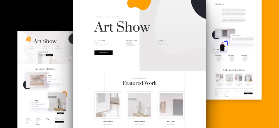 Kostenloses Kunst Galerie Layout Pack