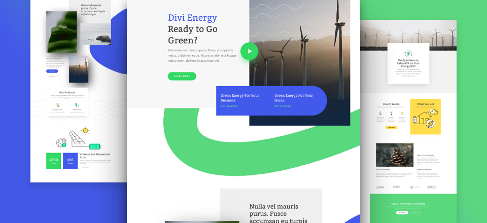 Kostenloses Green Energy Layout Pack