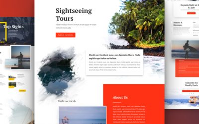 Kostenloses Sightseeing Layout Pack