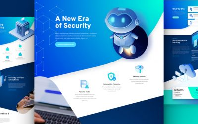 Kostenloses Cyber Security Layout Pack