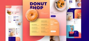Kostenloses Donut Shop Layout Pack