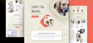Kostenlosen Layout-Paket für Hundeführer-Webseiten