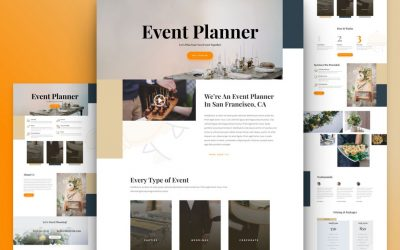 Kostenloses Event-Planer Layout Pack