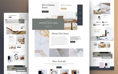 Kostenloses Online-Shop Layout Pack