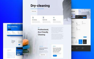 Kostenloses Layout Pack für chemische Reinigung
